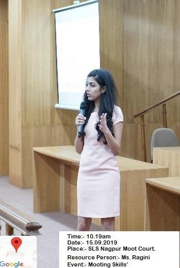 Law school mooting skill event - Ragini
