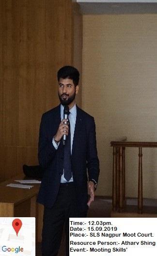 Law school mooting skill event - Atharv