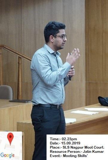 Law school mooting skill event - Jatin